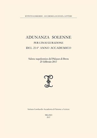 Visualizza Adunanza Solenne per l'inaugurazione del 214º Anno Accademico