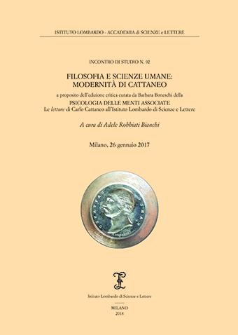 Visualizza Filosofia e Scienze umane: modernità di Cattaneo