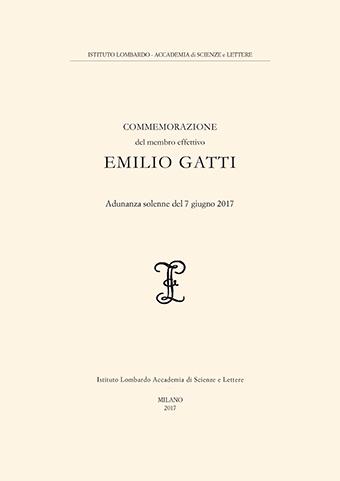 Visualizza Commemorazione del membro effettivo Emilio Gatti