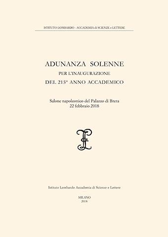 Visualizza Adunanza  Solenne per l'inaugurazione del 215º Anno Accademico